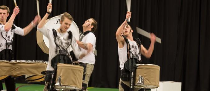 Beatrix' indoor percussion tijdens haar deelname aan de CGN-contest in Aalsmeer.